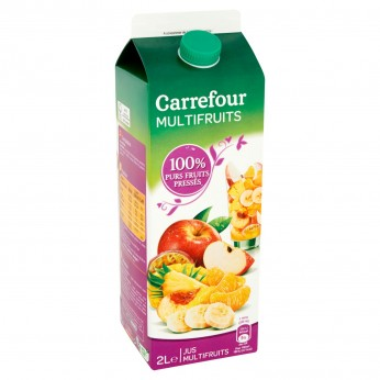 Jus de fruits 100% purs fruits pressés Carrefour