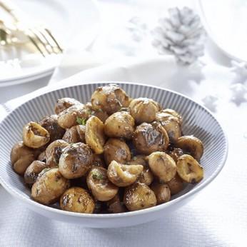 Marrons entiers cuisinés aux pommes et raisins - 4 parts