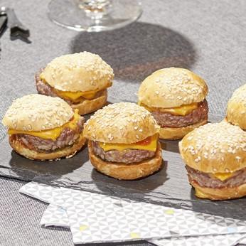 9 Minis burgers panachés