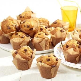 4 muffins vanille chocolat