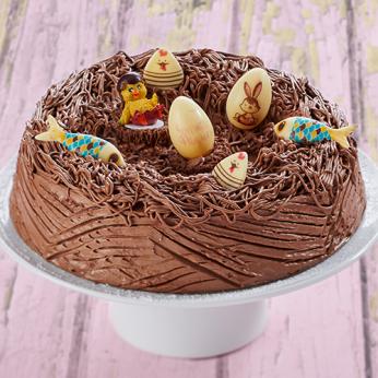 Nid de Pâques chocolat - 6/8 parts
