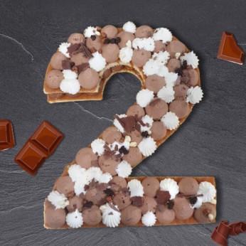 Number Cake - Trois chocolats - Numéro 2 - 8 parts