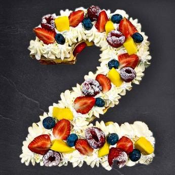 Number Cake - Fraisier - Numéro 2 - 15 parts