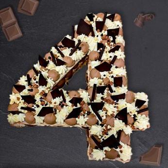 Number Cake - Trois chocolats - Numéro 4 - 8 parts