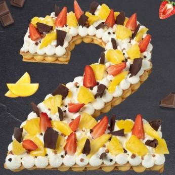 Number Cake - Passion - Numéro 2 - 8 parts