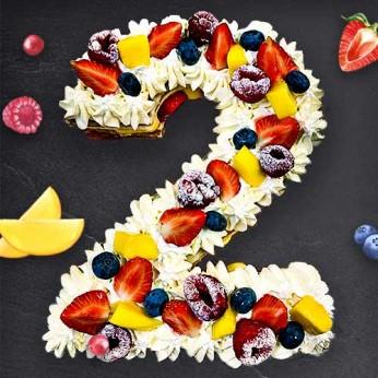 Number Cake - Framboise - Numéro 2 - 15 parts