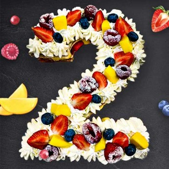 Number Cake - Framboise - Numéro 2 - 8 parts