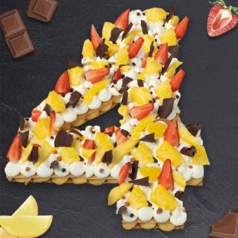 Number Cake - Passion - Numéro 4 - 8 parts