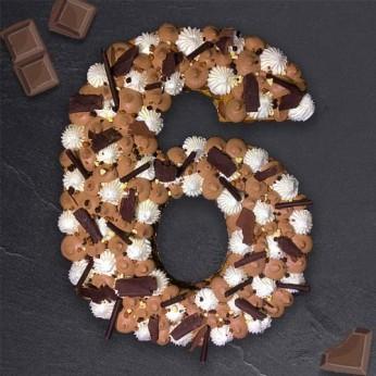 Number Cake - Trois chocolats - Numéro 6 - 8 parts