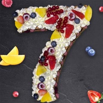 Number Cake - Framboise - Numéro 7 - 8 parts