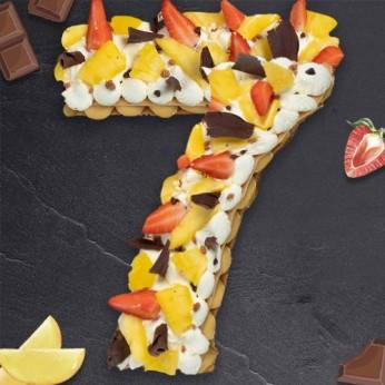 Number Cake - Passion - Numéro 7 - 8 parts