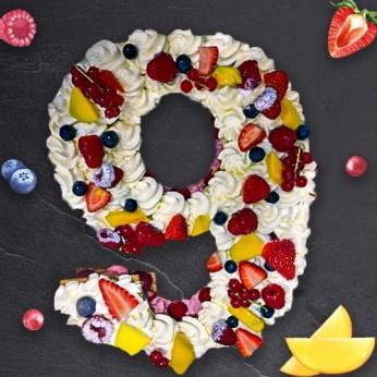 Number Cake - Fraisier - Numéro 9 - 8 parts