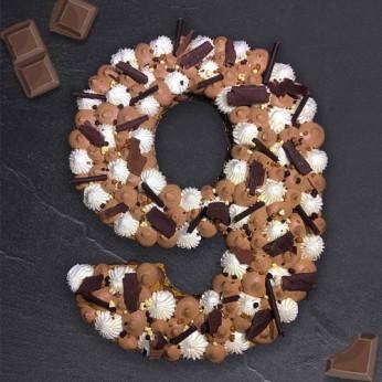 Number Cake - Trois chocolats - Numéro 9 - 15 parts