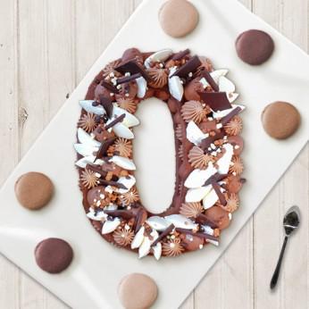 Number Cake - Trois chocolats - Numéro 0 - 8 parts