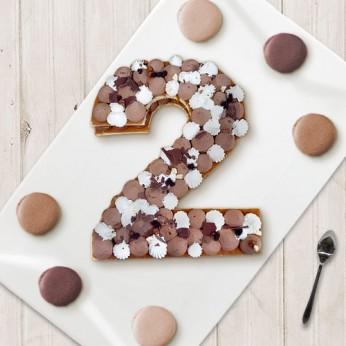 Number Cake - Trois chocolats - Numéro 2 - 15 parts