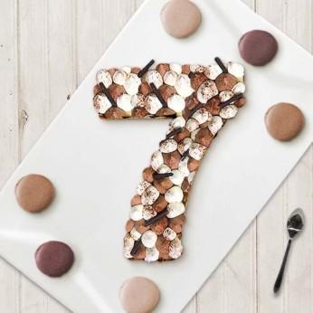 Number Cake - Trois chocolats - Numéro 7 - 8 parts