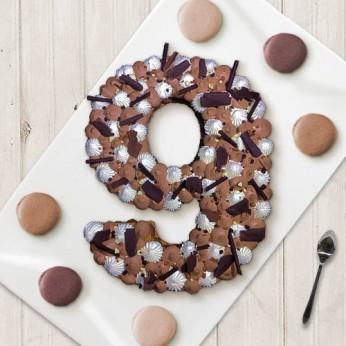 Number Cake - Trois chocolats - Numéro 9 - 8 parts