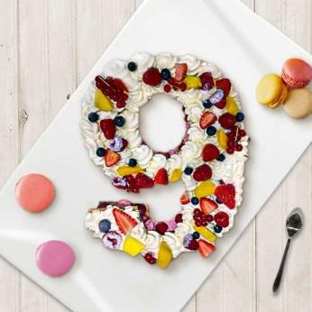 Number Cake - Framboise - Numéro 9 - 15 parts