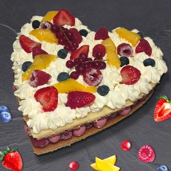 Coeur fraisier - 8 parts