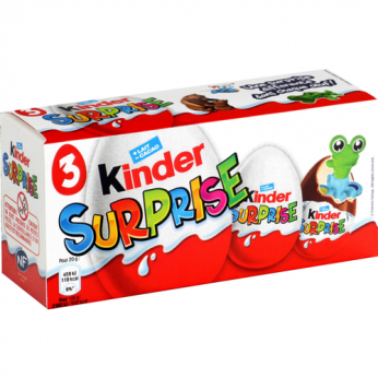 3 Oeufs chocolat Kinder Surprise