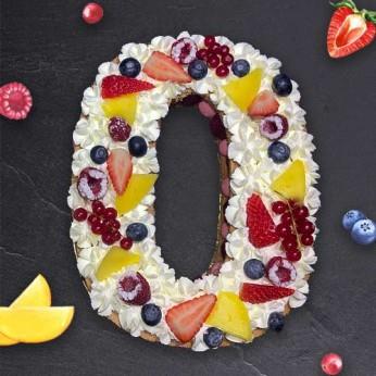 Number Cake - Framboise - Numéro 0 - 15 parts
