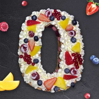 Number Cake - Framboise - Numéro 0 - 8 parts