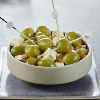 Olives vertes à la grecque
