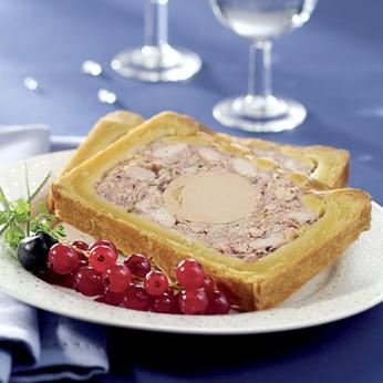 Paté croûte volaille avec 20% bloc foie gras