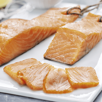 Pavé de saumon fumé ficelle