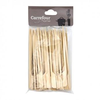 50 piques en bois bambous