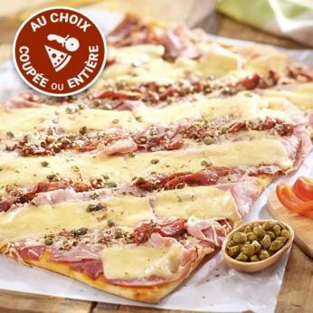 Pizza jambon mozzarella (COUPEE en 16 parts)