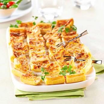 Tarte poulet champignons - 30 toasts