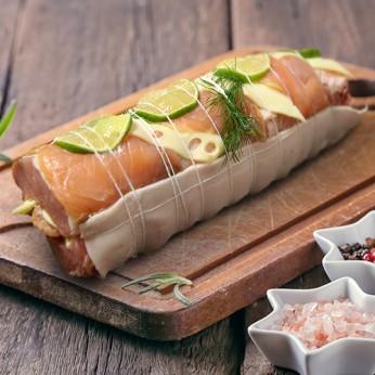 Rôti de porc saumon et fromage