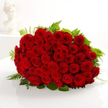 Bouquet de 50 roses rouges
