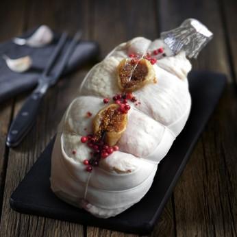 Roti de chapon et sa sauce foie gras