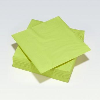 50 serviettes en papier vert pomme