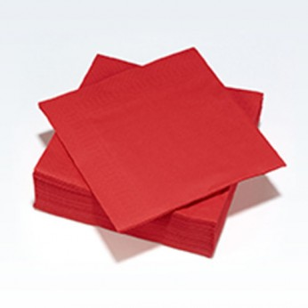 30 serviettes en papier rouges