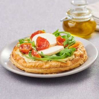 Tarte fine chevre, tomates cerises séchées