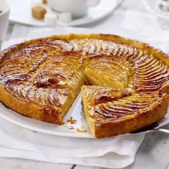 Part de tarte vergeoises aux pommes