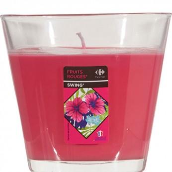1 verre évasé fuchsia fruits rouges