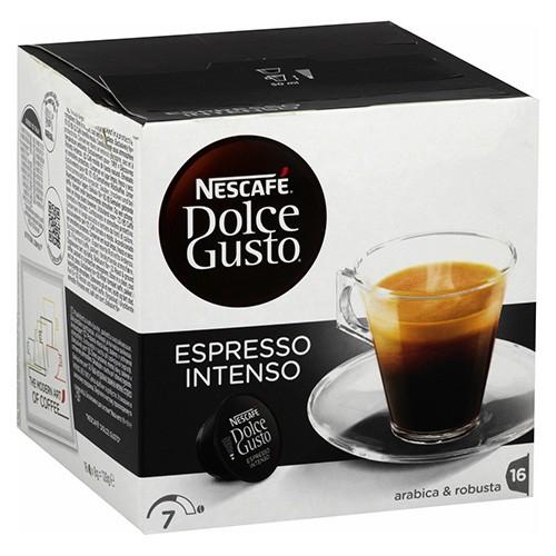 16 Capsules De Café Espresso Intenso Dolce Gusto Cafés Et