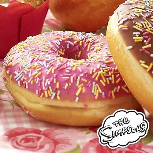 4 donuts simpson fraise p tisseries am ricaines petit d jeuner go ter traiteur la carte - Carte anniversaire simpson ...