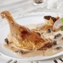 Cuisse de canard sauce aux morilles