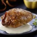 Poularde rôtie sauce Monbazillac