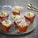 """4 Verrines """"Velouté"""" tomates & poivrons"""