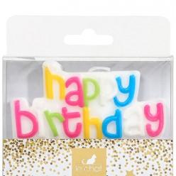 1 bougie plaque happy birthday