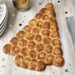 Sapin festif cœur fondant lardons fromage