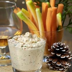 Tartinable homard fine champagne (sauce yaourt grecque, fine champagne, noisettes grillées, ciboulette)