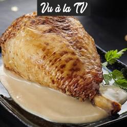 Chapon sauce au foie gras de canard