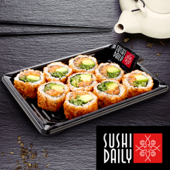 9 Spicy Saumon Rolls